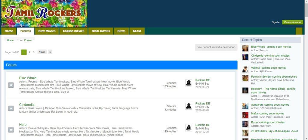 TamilRockers Forums